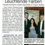 Leuchtende Farben - Claudia Schwamm-Linster zeigt Bilder im Casino Seefeld (Rundschau, 21.01.2010)