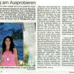 Ständig am Ausprobieren - Claudia Schwamm-Linster verlässt sich auf ihr grafisches Auge (Rundschau, 04.06.2009)