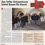 Das Telfer Ortszentrum bietet Raum für Kunst (Mein Monat, 25.11.2004)