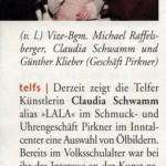 LALA stellt bei Pirkner aus (Mein Monat, 10.03.2005)