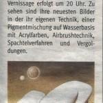 Vernissage im Café des Tennisclub Telfs (Bezirksblatt, 20.05.2009)