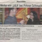 Werke von LALA bei Pirkner-Schuck (Blickpunkt, 02.03.2005)