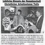 Löbliche Dienste der Gemeinschaft Christlicher Arbeitnehmer Telfs (1994)