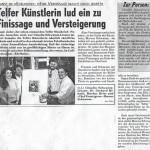 Telfer Künstlerin lud ein zu Finissage und Versteigerung (1994)