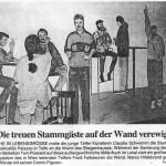 Die treuen Stammgäste auf der Wand verewigt (1994)