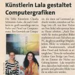 Künstlerin Lala gestaltet Computergrafiken (Monat, 27.02.2014)